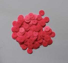 Zakje van 4 cm x 6 cm met FUCHSIA FLUO ROZE pailletten - Plastic bag 4 cm x 6 cm FLUO PINK FUCHSIA sequins - 10 mm diameter - Petit sac de sequins / paillettes 4 cm x 6 cm FLUO ROSE FUCHSIA