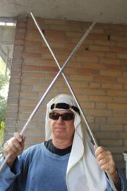 Rechte stok voor tahteeb Saidi stokdans of heren stokdans ZILVER - 100 - 105 cm Straight cane SILVER for tahteeb Saidi dance men's dance from Egypt