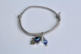 "Veter armband ""Nazar Boncuk Chamsa"" - one size adaptable - ""Nazar Boncuk Hamsa"" Leather Lace bracelet"