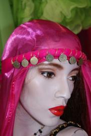 Hoofdbandje haarband in ALLE kleuren met GOUDEN of ZILVEREN muntjes voor meisjes / dames  - Headband with GOLD or SILVER  colored coins ALL colors Girls / Ladies