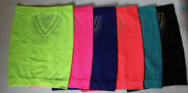 Buiknet topje belly body stretch niet transparant NEON GEEL, NEON ROZE, NEON ORANJE, TURQUOISE, ZWART, PAARS - Small Medium  - Belly body  non transparent FLUORESCENT YELLOW/PINK/ ORANGE, TURQ, BLACK, PURPLE