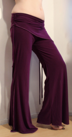 Tribal Fusion stretch broek PAARS - Extra LONG / M, L, XL. Tribal fusion pants for bellydancers PURPLE - Pantalon tribal VIOLET pour la danse orientale ATS