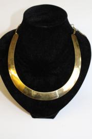 Halssnoer Faraonisch volledig GOUD kleurig - Choker  - Choker Necklace Pharaonic GOLD colored