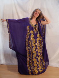 Khaleegy jurk uit de Golfstaten ROOD, ZWART, MULTICOLOR, PAARS, WIT LILA - one size fits S, M, L, XL, XXL, XXXL, XXXXL - khaleegy abaya, dress from the Emirates RED, BLACK, PURPLE, MULTICOLOR, OFF WHITE
