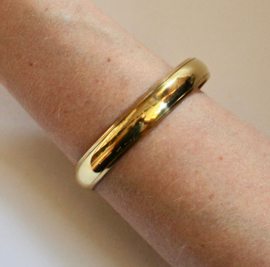 1 Gipsy Armband goudkleurig 1,7 cm breed - diameter 6,7 cm - 1 Gypsy bracelet gold color 1,7 cm