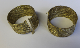 "1 Flexibele Kraaltjes armband ""Ibiza chique"" stijl Faraonisch GOUD kleur - 1 Flexible Beaded bracelet Ibiza fashion style Pharaonic GOLD color"
