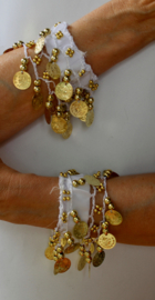Muntjes armband WIT GOUD - Small Medium - Coin bracelet WHITE GOLD
