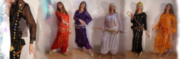 Saidi net-jurken - Egyptian saidi dresses