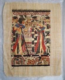 Originele Egyptische papyrus met faraonische afbeeldingen 3