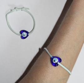 LICHT BLAUWE Veter Armband met geluks oog Nazar Boncuk dame OF meisje - volwassene / kind - Bracelet LIGHT BLUE Lucky Eye Nazar Boncuk