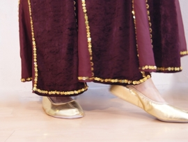 Buikdans rok zeemeermin fluweel BORDEAUX DONKER ROOD met GOUD -  XS Extra Small S Small M Medium - Bellydance skirt mermaid velvet WINERED GOLD