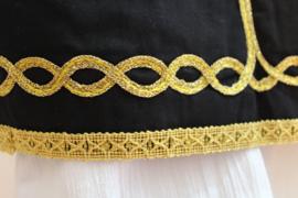 Feestelijk orientaals Gilet Jongen mouwloos model ZWART met GOUDEN krul versiering  8-10 jaar - Waistcoat Boy BLACK with GOLDEN curls 8-10 year old - Gilet garçon 8-10 ans 1001 Nuits