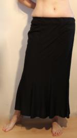 Klok rok 8 panden, jersey ZWART  - XL 42 44 - 8 Pannel skirt BLACK - Jupe cloche 8 panneaux NOIR