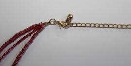 Farao1 halsketting Farao stijl : kraaltjes halssnoer ROOD, ZWART, GOUD - Pharaonic jewel, beaded necklace,  RED, BLACK, GOLDEN Farao1