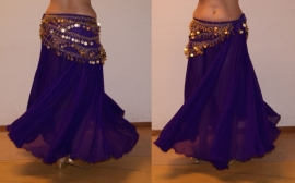 2-delig setje Cirkelrok + sluier paars -M, L, XL, XXL - 2-piece set Circle skirt + veil purple
