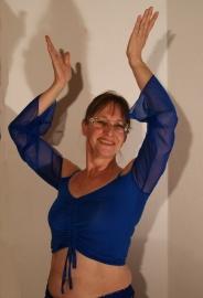 Stretch oefentopje met verstelbare hoogte KONINGS BLAUW - Crop top ROYAL BLUE