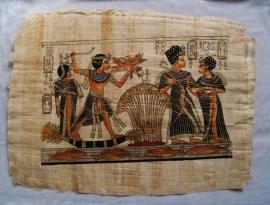 Originele Egyptische papyrus met faraonische afbeeldingen 1