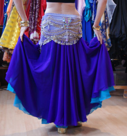 Cirkelrok chiffon PAARS licht transparant - Long - Full Circle skirt PURPLE slightly transparent