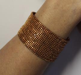 "1 Flexibele Kraaltjes armband ""Ibiza chique"" stijl Faraonisch KOPER kleur - 1 Flexible Beaded bracelet Ibiza fashion style Pharaonic BRASS color"