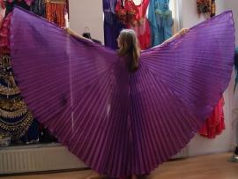 Isiswings PAARS lamé glans - Wings of Isis PURPLE glow - Ailes d'Isis MAUVE