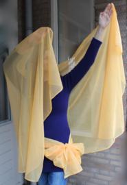 Halfronde sluier chiffon Oranje-GEEL - 260 cm x 112 cm - Halfcircle veil chiffon Orange-YELLOW
