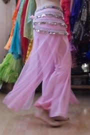 Broek/rok zacht roze oefenkleding - soft pink exercise pants / skirt