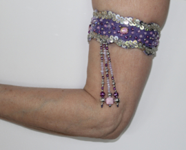 Slangenkostuum Egypte LILA / LICHT PAARS zilver - Bellydance snake costume lilac light PURPLE