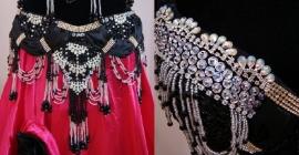 2-delig buikdanskostuum zwart zilver diamant - 2-piece Bellydance costume BLACK SILVER DIAMONT STRASS