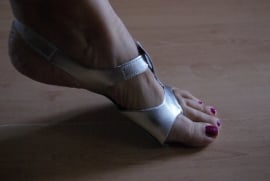 Buikdanssandalen, Afro Shoes ZILVER - Bellydance Afro sandals SILVER