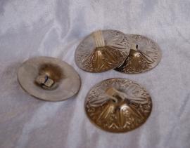 Zills zilver 6,4 cm diameter - Finger cymbals