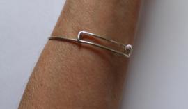 Armband ZILVER kleurig met handje van Fatima - Bracelet SILVER color with hand of Fatma - one size adaptable - Bracelet couleur ARGENT main de Fatmah