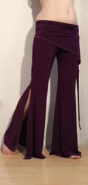Tribal Fusion stretch broek PAARS - Extra LONG / M, L, XL. Tribal fusion pants for bellydancers PURPLE - Pantalon tribal VIOLET pour la danse orientale ATS