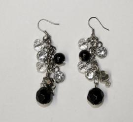 Oorbellen Diamond BLACK SILVER - Earrings Diamond BLACK SILVER