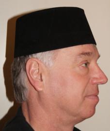 Fez Fes Tarboosh hoofddeksel heren met kwastje ZWART - Fez men's arabic /Turkish hat with tassel BLACK