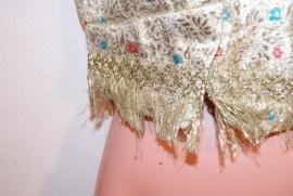 Bolero, Harem prinsessen jasje, Indiase stijl GOUD met korte mouwtjes, volledig gevoerd met gouden stof - XS Extra Small Petite - Indian princess bolero GOLD