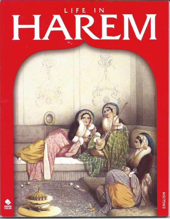 "Boek ""Life in Harem"" English Book about Topkapi harem in Istanbul with painted pictures"