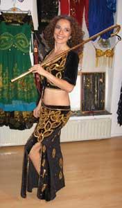 Meisjes Stok Assaya voor Raqs Assaya /  Saidi stokdans ZILVER - Small 87 cm - Girls Cane for Saidi canedance SILVER