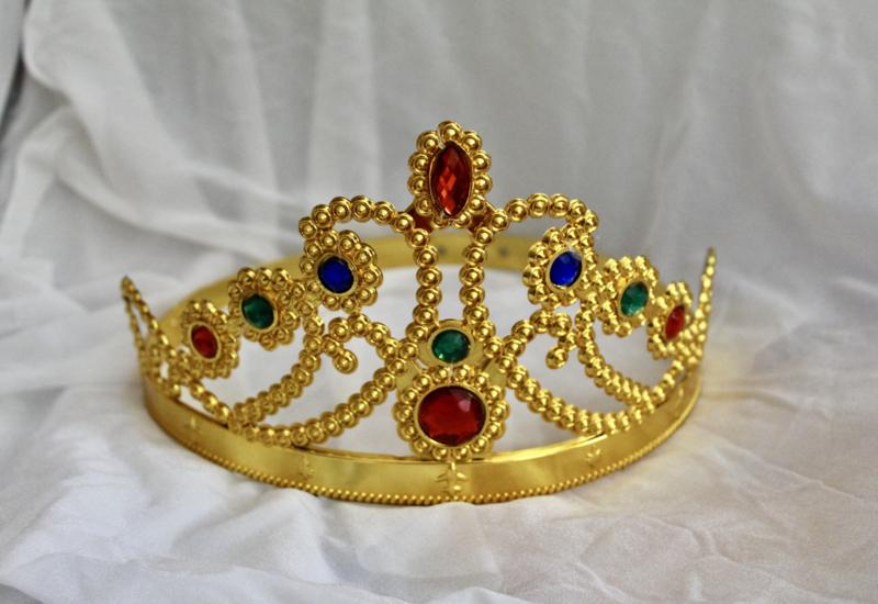 """""""Prinsessen-Kroon"""" GOUD voor meisjes - size adaptable - GOLDEN crown for girls """"Princess-Crown"""""""