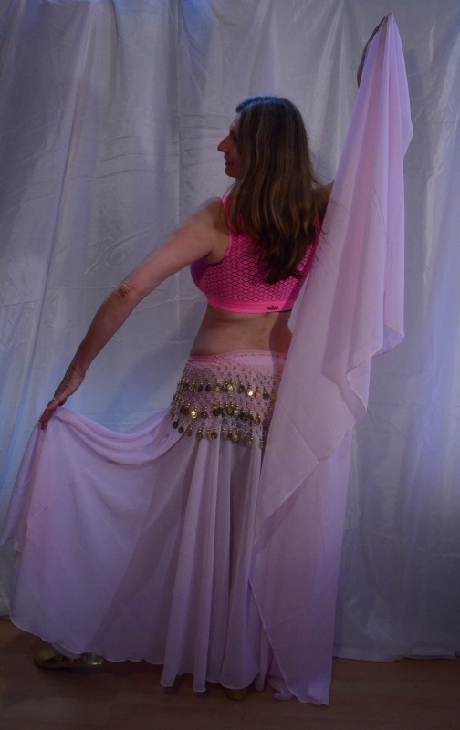 2-delig setje Cirkelrok + sluier LICHT ROZE ROSE - Extra Long -  2-piece set Circle skirt + veil SOFT PINK