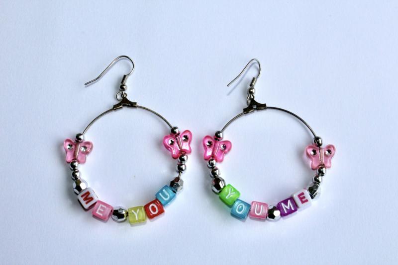 Lichtgewicht ME YOU oorbellen - diameter 4 cm - Lightweight ME YOU earrings