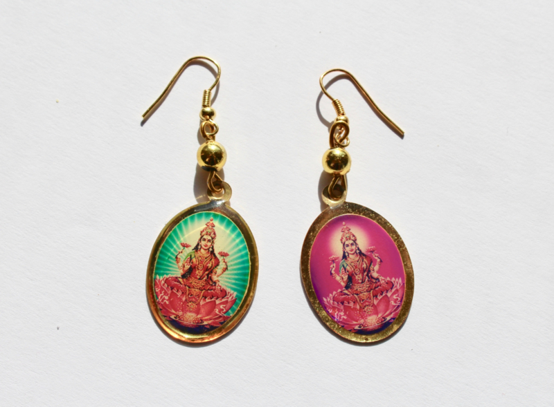 Lichtgewicht Lakshmi Devi oorbellen - lightweight Lakshmi Devi  earrings