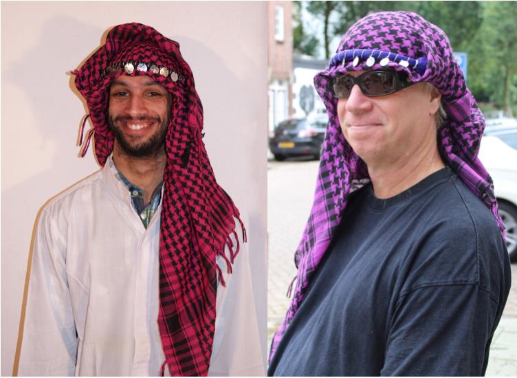 Palestijnse sjaal DONKERROOD of PAARS met ZWART - Keffiyeh - Palestinian shawl DARK RED, PURPLE  with BLACK, Chafiyeh