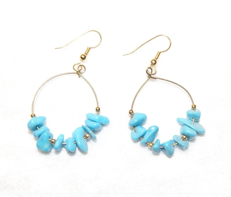 Oorbellen Turkooizen ring - Earrings turquoise ring