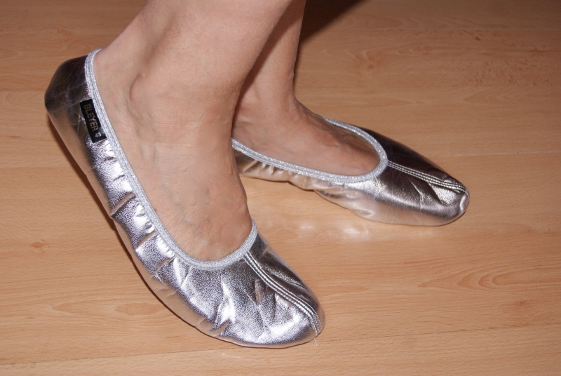 Buikdans Schoentjes ZILVER, lederen zool - Bellydance shoes SILVER, leather sole