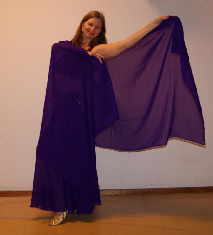 Sluier rechthoekig chiffon PAARS - Veil rectangle chiffon PURPLE