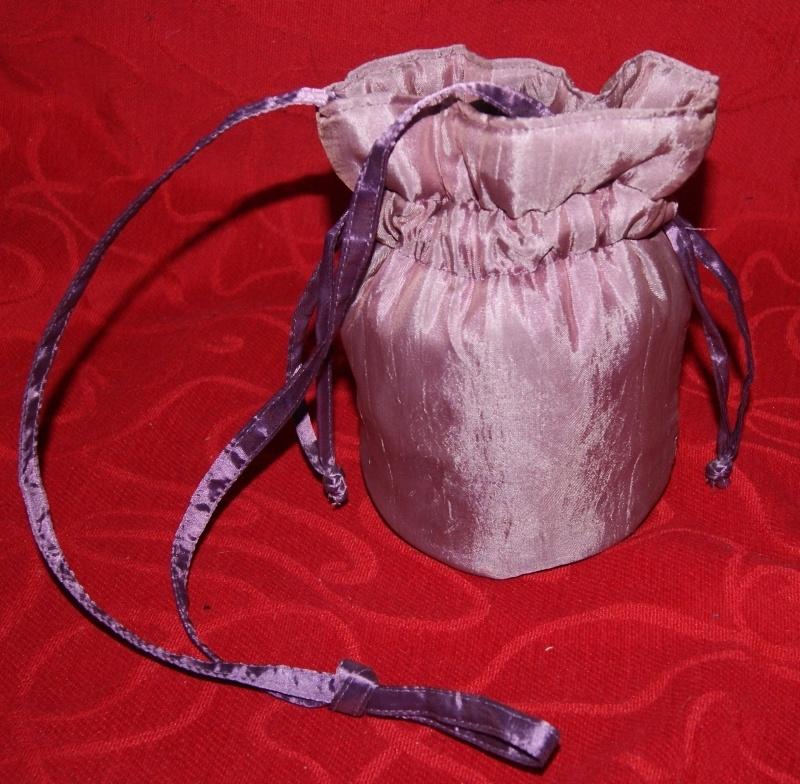 Gewatteerd tasje lichtpaars 20 cm hoog - SOFT PURPLE purse 20 cm high
