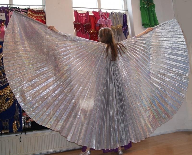 Isiswings hologram ZILVER lamé / lamee - Wings of Isis hologram SILVER lamé fabric - Ailes d'Isis opaques argentées