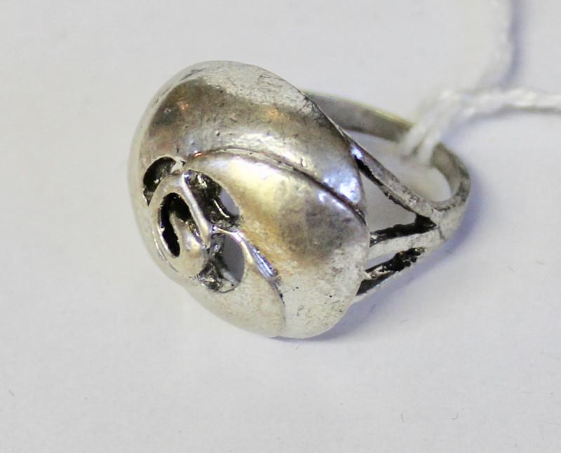 Ring ZILVER kleurig Bloem1- diameter 19 mm, size 59/60 - Ring SILVER color Flower1