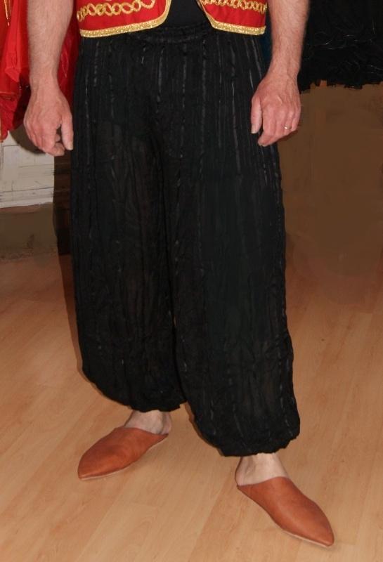 Harembroek Alladin heren ZWART, pofbroek - Black Alladin harempants men - Saroual cotton NOIR pour homme et femme