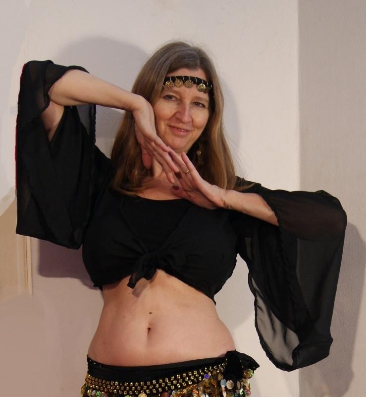 Gipsy Vleermuistopje chiffon, knooptopje met wijde mouwen ZWART - Gypsy Butterfly tie top wide sleeves BLACK